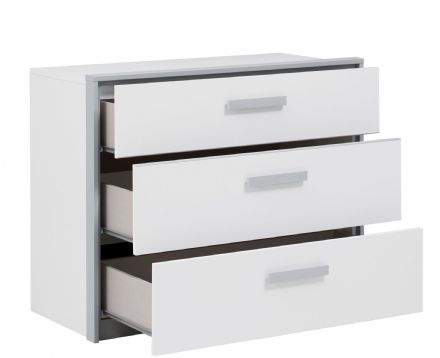 Georgio 3 Drawer Chest Optional Top Unit